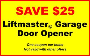 save 25 dollars on anyh liftmaster garage door opener