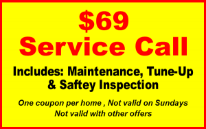 garage door repair coupons to 69 dollar service call for maintenance, tune-ups, and safety inspection