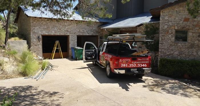 new garage door installation in houston by a family owned garage door company