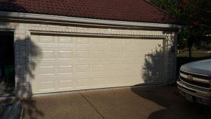 Traditional double Garage Door Installation in Houston Texas