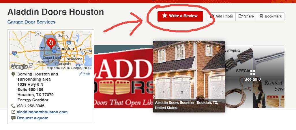 Aladdin Doors of Houston Yelp Reviews