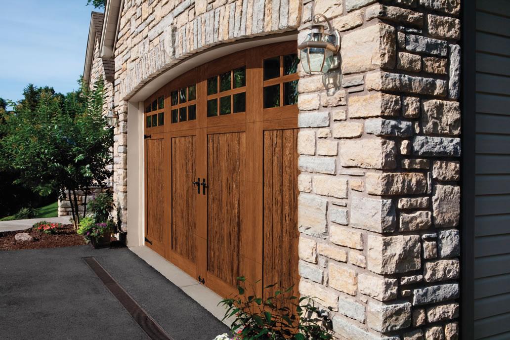 Rustic Faux Wood Garage Doors