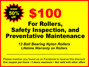 coupon for 100 dollar garage door roller replacement safety inspection and preventative maintenance  sc 1 st  Aladdin Garage Doors Houston & Easy Tips for How to Make Your Garage Door Quieter pezcame.com